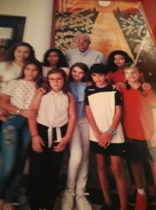 D. Antonio con sus alumnos de Campos del Río, meses antes de fallecer.